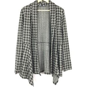 Kasper Sweater Cardigan Houndstooth XL